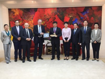 Concluding an agreement with the Chengdu City Hall on the 11th Tchaikovsky Youth Competition